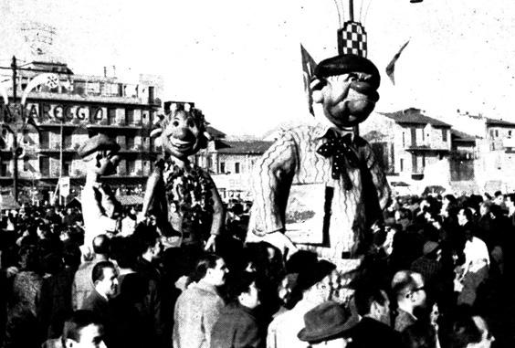 Parodia pittorica di Raffaello Giunta - Mascherate di Gruppo - Carnevale di Viareggio 1961