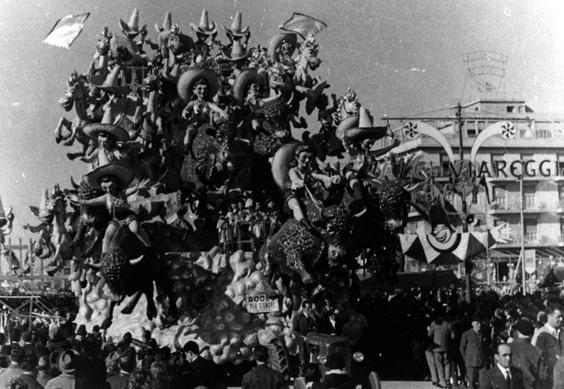 Rodeo per signore di Antonio D'Arliano - Carri grandi - Carnevale di Viareggio 1961