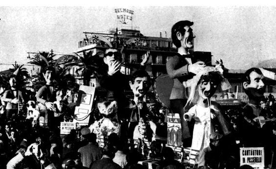 Cantautori in passerella di Carlo Bomberini - Complessi mascherati - Carnevale di Viareggio 1962