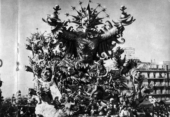 Carnevale nel cosmo di Carlo Vannucci - Carri grandi - Carnevale di Viareggio 1962