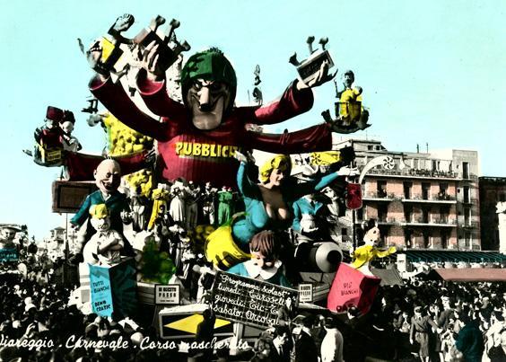 Di questo passo di Silvano Avanzini - Carri grandi - Carnevale di Viareggio 1962
