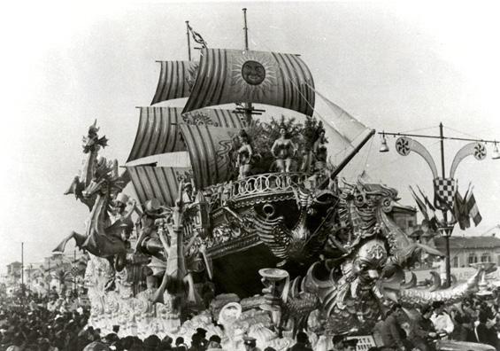Festa a bordo di Antonio D'Arliano - Carri grandi - Carnevale di Viareggio 1962