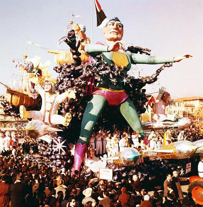I grandi navigatori dello spazio di Arnaldo Galli - Carri grandi - Carnevale di Viareggio 1962