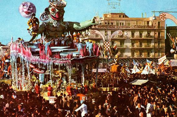 Primavera in mare di Sergio Baroni - Carri grandi - Carnevale di Viareggio 1962