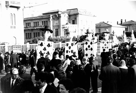 Primiera, settebello e tre scope di Fabio Malfatti - Mascherate di Gruppo - Carnevale di Viareggio 1962