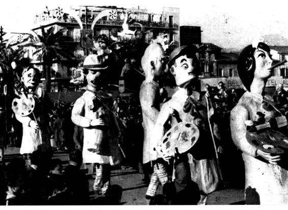 Tutti pittori di Fortunato Pardini - Mascherate di Gruppo - Carnevale di Viareggio 1962