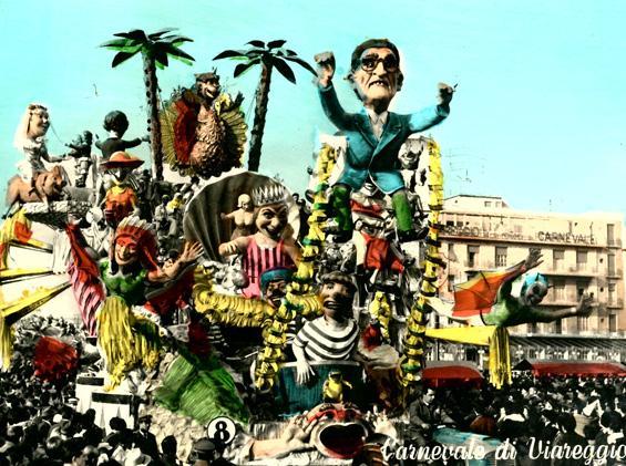 Fatiche mie venitemi dietro di Alfredo Pardini - Carri grandi - Carnevale di Viareggio 1963