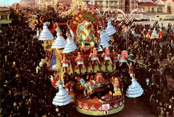 Fifa e arena di Antonio D'Arliano - Carri grandi - Carnevale di Viareggio 1963