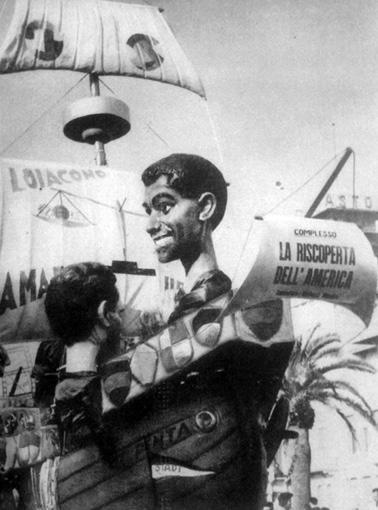 La riscoperta dell'America di Amedeo Mallegni - Complessi mascherati - Carnevale di Viareggio 1963