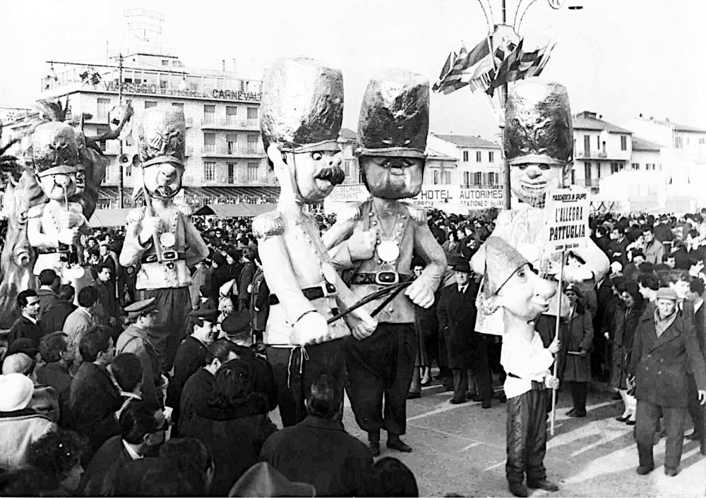 L'allegra pattuglia di Davino Barsella - Mascherate di Gruppo - Carnevale di Viareggio 1963