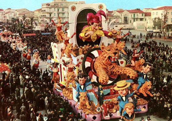L'amico del giaguaro di Carlo Vannucci - Carri grandi - Carnevale di Viareggio 1963