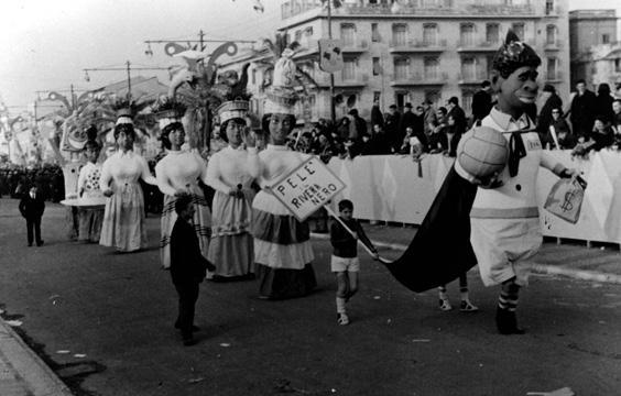 Fiesta a Pelè di Fabio Romani - Mascherate di Gruppo - Carnevale di Viareggio 1964