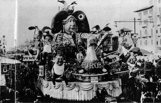 L'eur...oca di Strasburgo di Ademaro Musetti - Carri grandi - Carnevale di Viareggio 1964