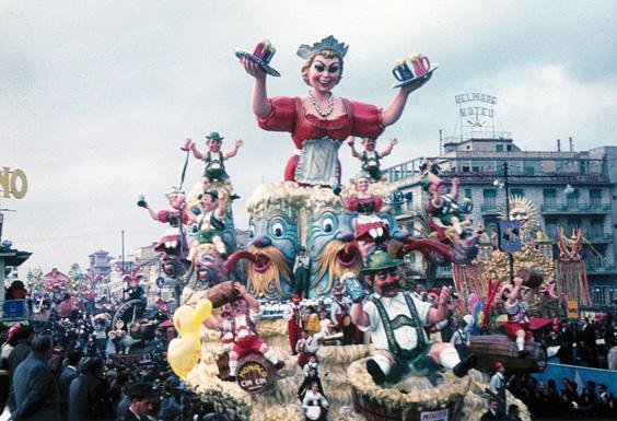 Zum Wohl di Carlo Vannucci - Carri grandi - Carnevale di Viareggio 1964