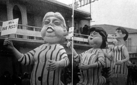Abbasso il topless di Giovanni Pardini - Mascherate di Gruppo - Carnevale di Viareggio 1965