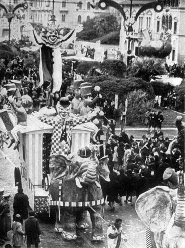 Arriva il circo di Vittorio Lippi - Complessi mascherati - Carnevale di Viareggio 1965