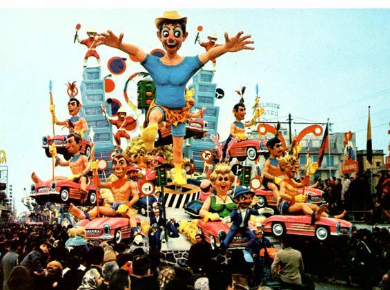Giungla d'asfalto di Carlo Vannucci - Carri grandi - Carnevale di Viareggio 1965