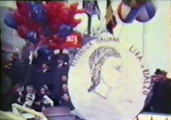 Il rialzo della Lira di Gruppo Arcobaleno - Maschere Isolate - Carnevale di Viareggio 1965
