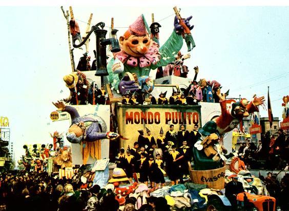 Mondo pulito di Arnaldo Galli - Carri grandi - Carnevale di Viareggio 1965