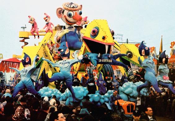 Scacciapensieri di Sergio Baroni - Carri grandi - Carnevale di Viareggio 1965