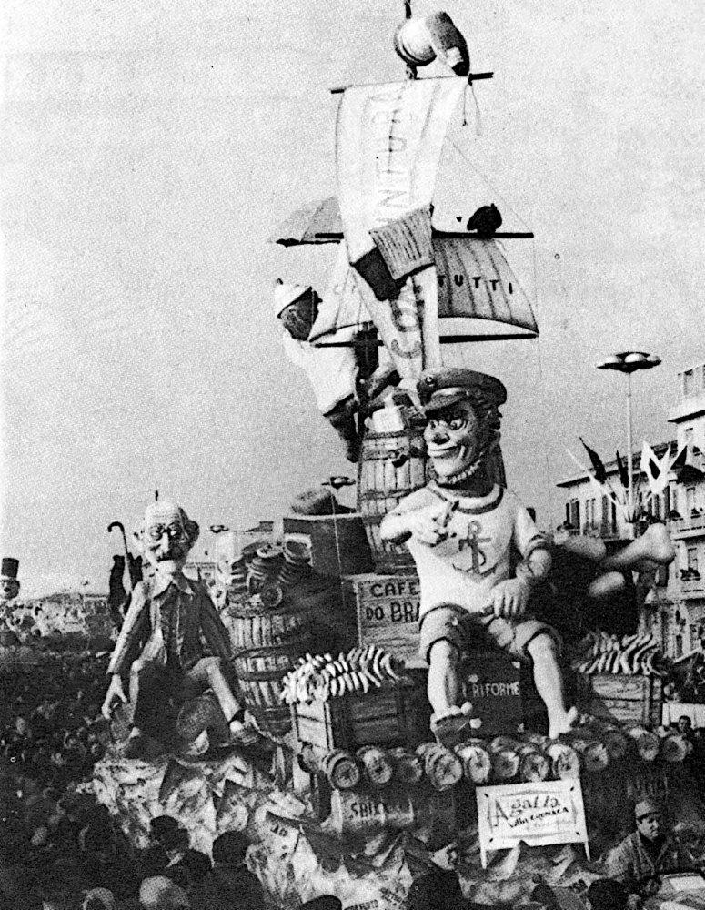 A galla sulla cronaca di Amedeo Mallegni - Complessi mascherati - Carnevale di Viareggio 1966