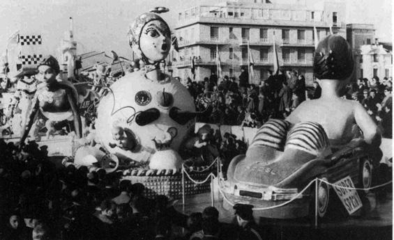 Donne e motori di Giovanni Lazzarini - Complessi mascherati - Carnevale di Viareggio 1966