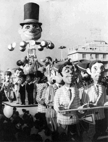 La cuccagna ovvero la via del successo di Vittorio Lippi - Complessi mascherati - Carnevale di Viareggio 1966