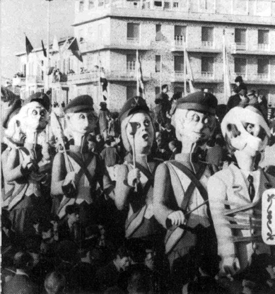 La ronda delle suocere di Fortunato Pardini - Mascherate di Gruppo - Carnevale di Viareggio 1966