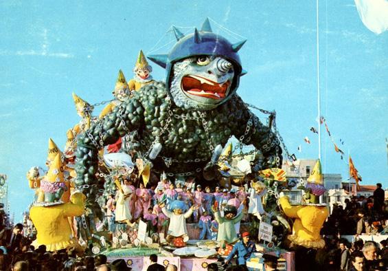 Non calpestate i fiori di Arnaldo Galli - Carri grandi - Carnevale di Viareggio 1966