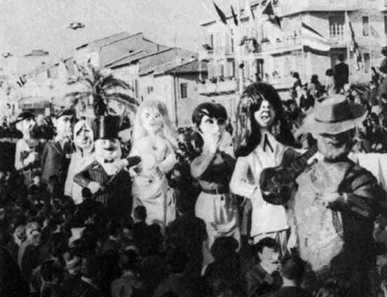 Per un pugno di dollari di Davino Barsella - Mascherate di Gruppo - Carnevale di Viareggio 1966