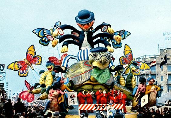 Avanti piano quasi indietro di Silvano Avanzini - Carri grandi - Carnevale di Viareggio 1967