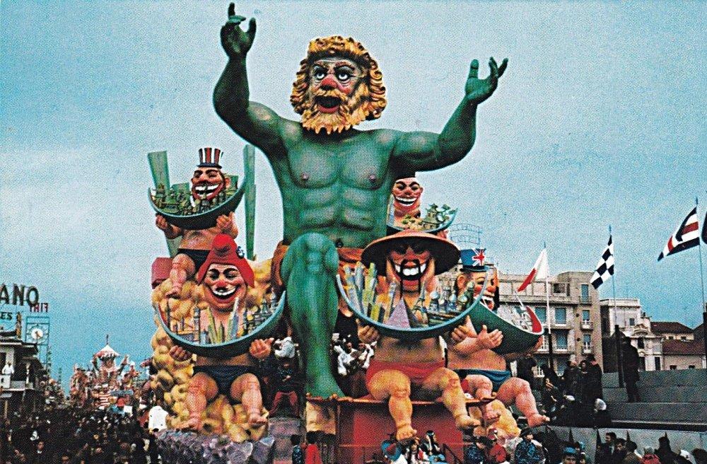 I pappamondo di Carlo Vannucci - Carri grandi - Carnevale di Viareggio 1967