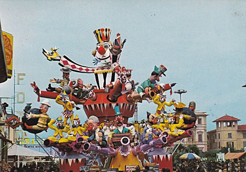 Premio Nobel per la pace di Giuseppe Domenici - Carri grandi - Carnevale di Viareggio 1967