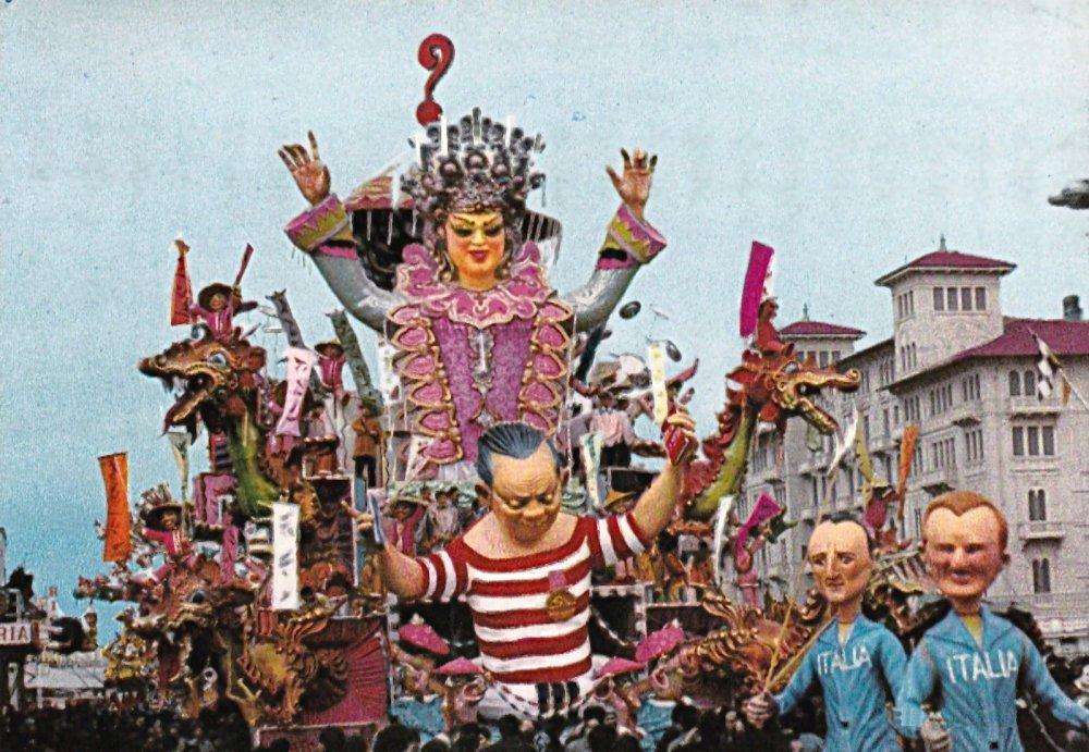 Scherzi cinesi di Nilo Lenci - Carri grandi - Carnevale di Viareggio 1967