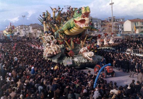 Africa addio di Carlo Francesconi, Sergio Barsella - Carri grandi - Carnevale di Viareggio 1968