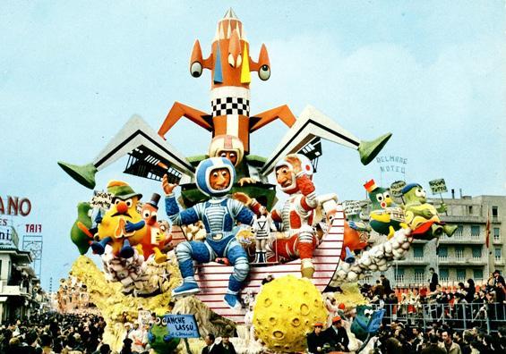 Anche lassù di Giuseppe Domenici - Carri grandi - Carnevale di Viareggio 1969