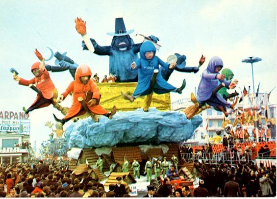Caccia alle streghe di Silvano Avanzini - Carri grandi - Carnevale di Viareggio 1969