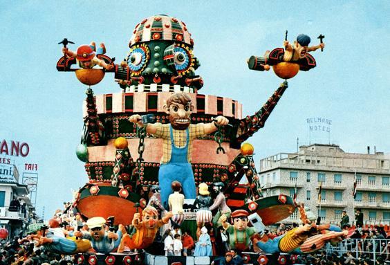 Il tallone di ferro di Davino Barsella, Valeriano Pardini - Carri grandi - Carnevale di Viareggio 1969