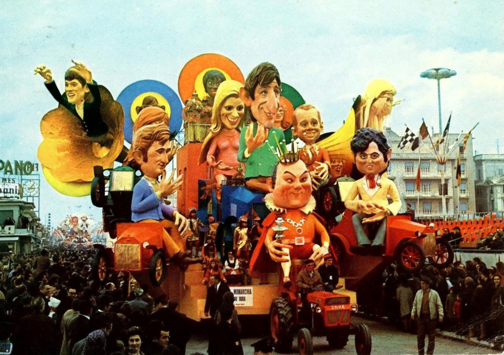 La monarchia che dura di Ademaro Musetti - Carri grandi - Carnevale di Viareggio 1969