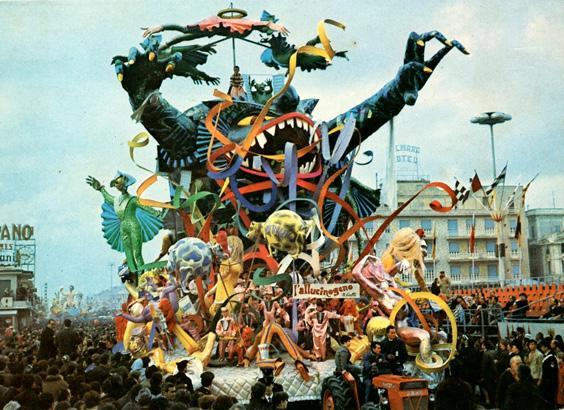 L'allucinogeno di Arnaldo Galli - Carri grandi - Carnevale di Viareggio 1969