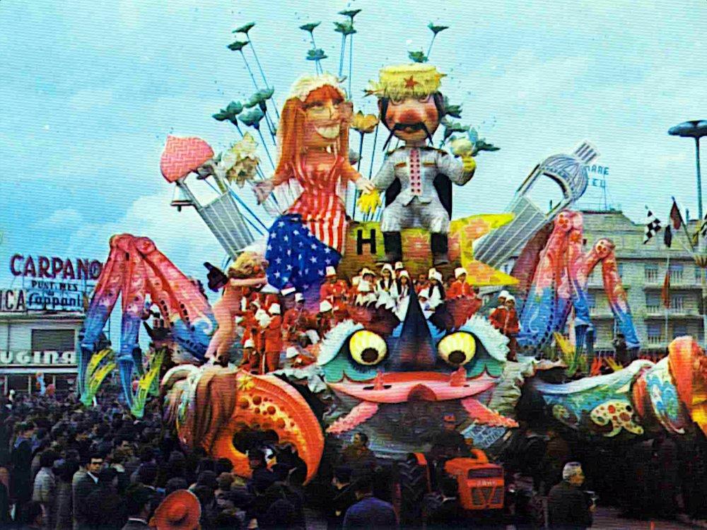 L'amore ha preso un granchio di Sergio Baroni - Carri grandi - Carnevale di Viareggio 1969