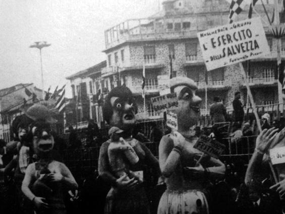 L'esercito della salvezza di Fortunato Pardini - Mascherate di Gruppo - Carnevale di Viareggio 1969