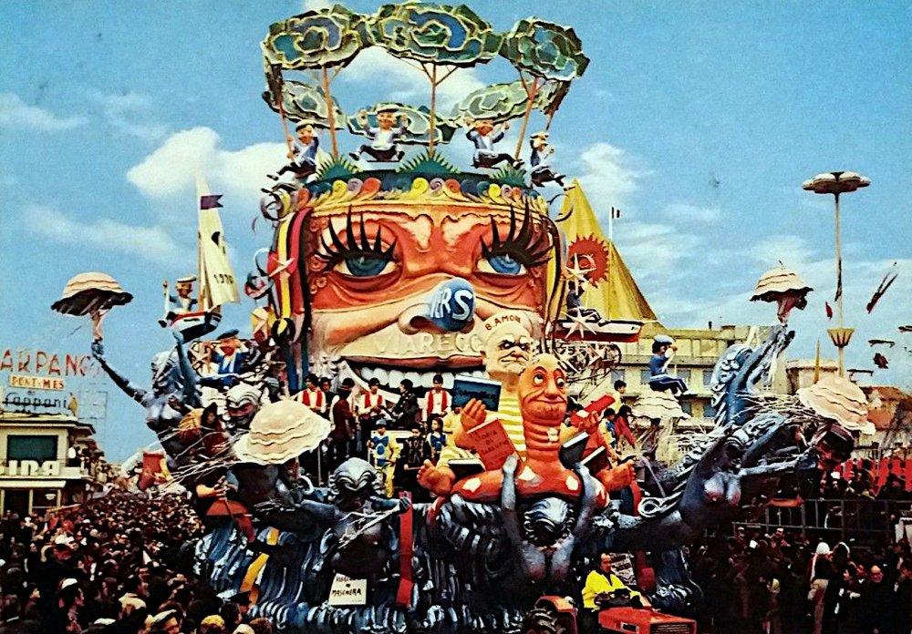 Viareggio in maschera di Nilo Lenci - Carri grandi - Carnevale di Viareggio 1970