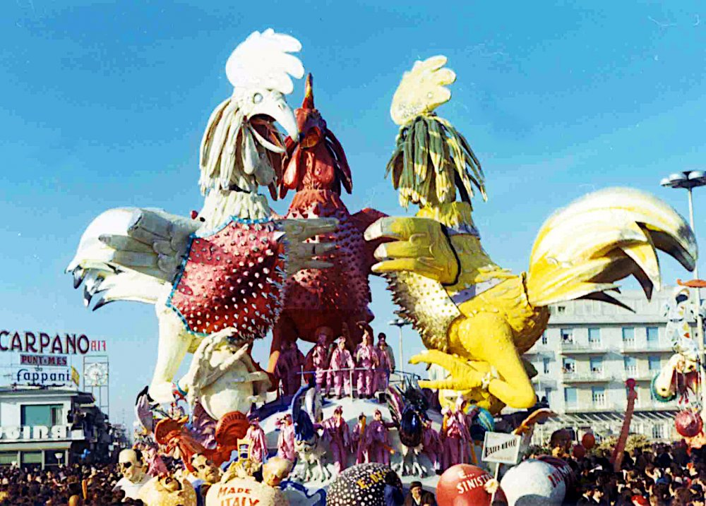 Battibecco di Arnaldo Galli - Carri grandi - Carnevale di Viareggio 1971