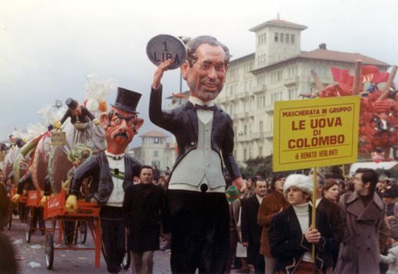 L'uovo di Colombo di Renato Verlanti - Mascherate di Gruppo - Carnevale di Viareggio 1972
