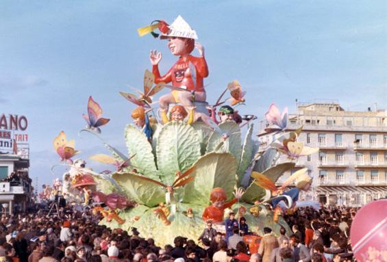 Pierino e la storia del cavolo di Ademaro Musetti - Carri grandi - Carnevale di Viareggio 1972