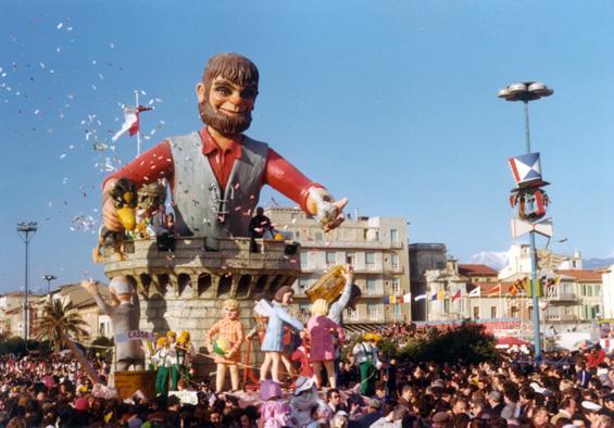 Gigante salvaci tu di Renato Verlanti - Carri piccoli - Carnevale di Viareggio 1975