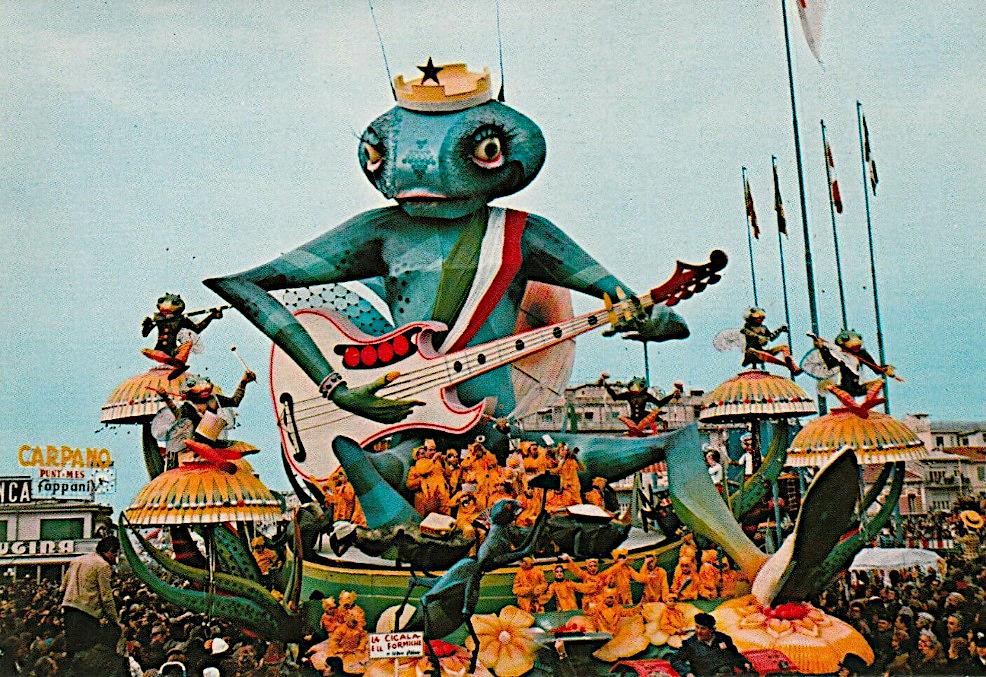 La cicala e le formiche di Sergio Baroni - Carri grandi - Carnevale di Viareggio 1975