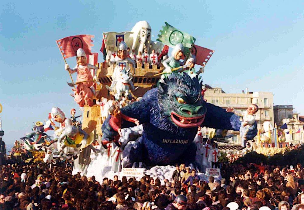 L'armata Brancaleone di Silvano Avanzini - Carri grandi - Carnevale di Viareggio 1975