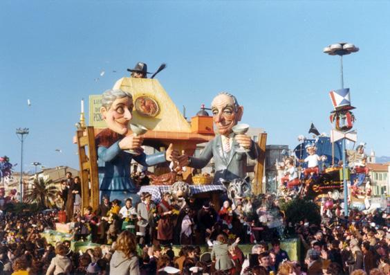 Una tantum di Giuseppe Palmerini - Carri piccoli - Carnevale di Viareggio 1975